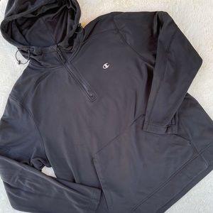 Champion Half Zip Performance Hoodie Black sz XL